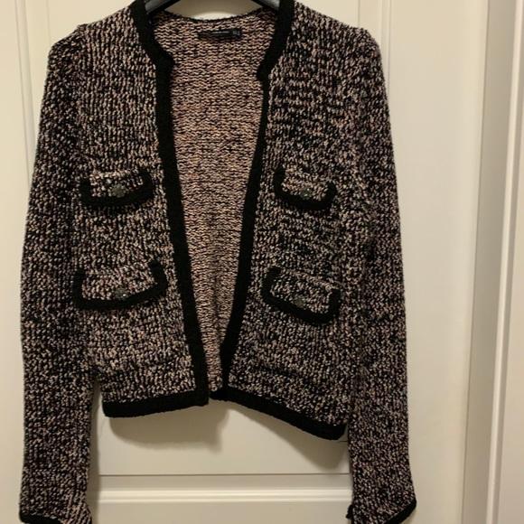 Zara tweed cardigan blazer